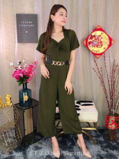30767 Flutter Sleeved Jumpsuit