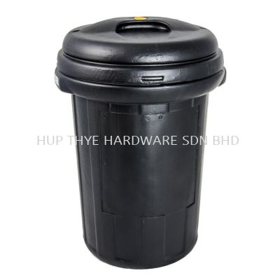 70L PE DUSTBIN WITH COVER