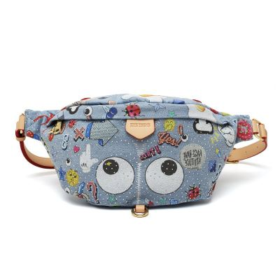 EYE THEME FASHION JEAN CHEST BAG