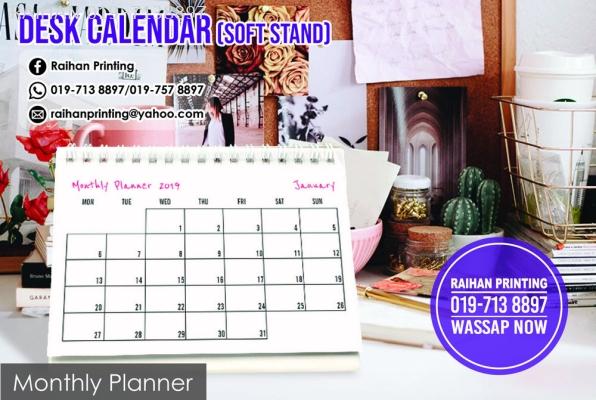 Desk Calendar (Soft Stand)