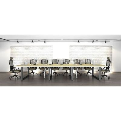 SRC2400 Square Leg with Rectangular Meeting Table 2400W x 1200D x 750H mm (Maple)
