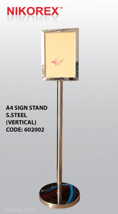 602002 - SS SIGNAGE STAND A4 (VERTICAL)