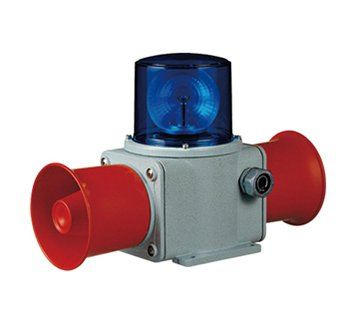 SHD2 Heavy Duty Bulb Rotating Signal Beacon & Electronic Sounder Combinations for Marine and Heavy Industry Applications Weatherproof Revolving Beacon Sounder / Audible & Visual Alarm Max.118dBx2
