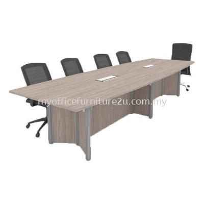 PBC2100 Pole Leg with Boat Meeting Table 2100W x 1050/750D x 750H mm (Thuja Light)