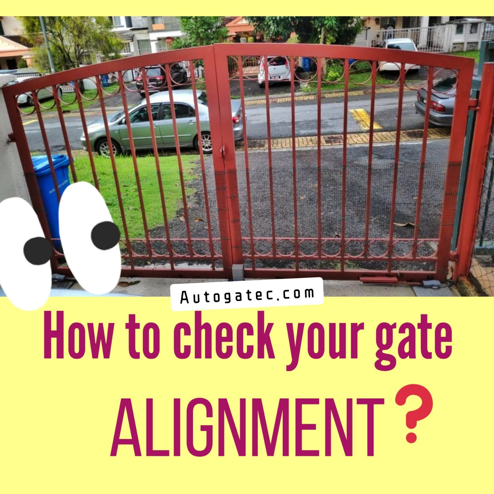 Tips DIY Check you gate alignment
