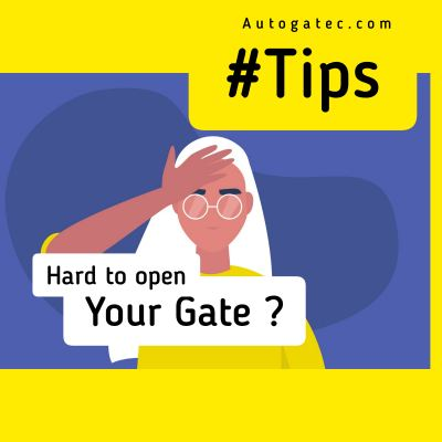 Hard to open you gate ?