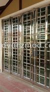 Stainless Steel Sliding Grille Door  Stainless Steel Grille