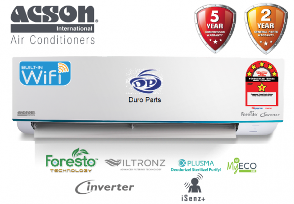 (Smart Solution) Acson 1.0HP Premium Inverter Air Conditioner R32 AVORY Series A3WMY10APF
