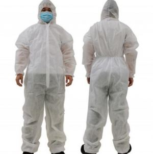 PP 42 GSM Protective Isolation Coverall Suit With Boot Cover
