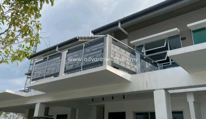 Balcony Railing With Aluminium Panels