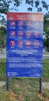 rules and regulations sign Notis Signboard Signages