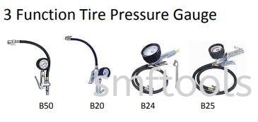 3 FUNCTION TYRE PRESSURE GAUGE PRESSURE GAUGE AIR TOOLS