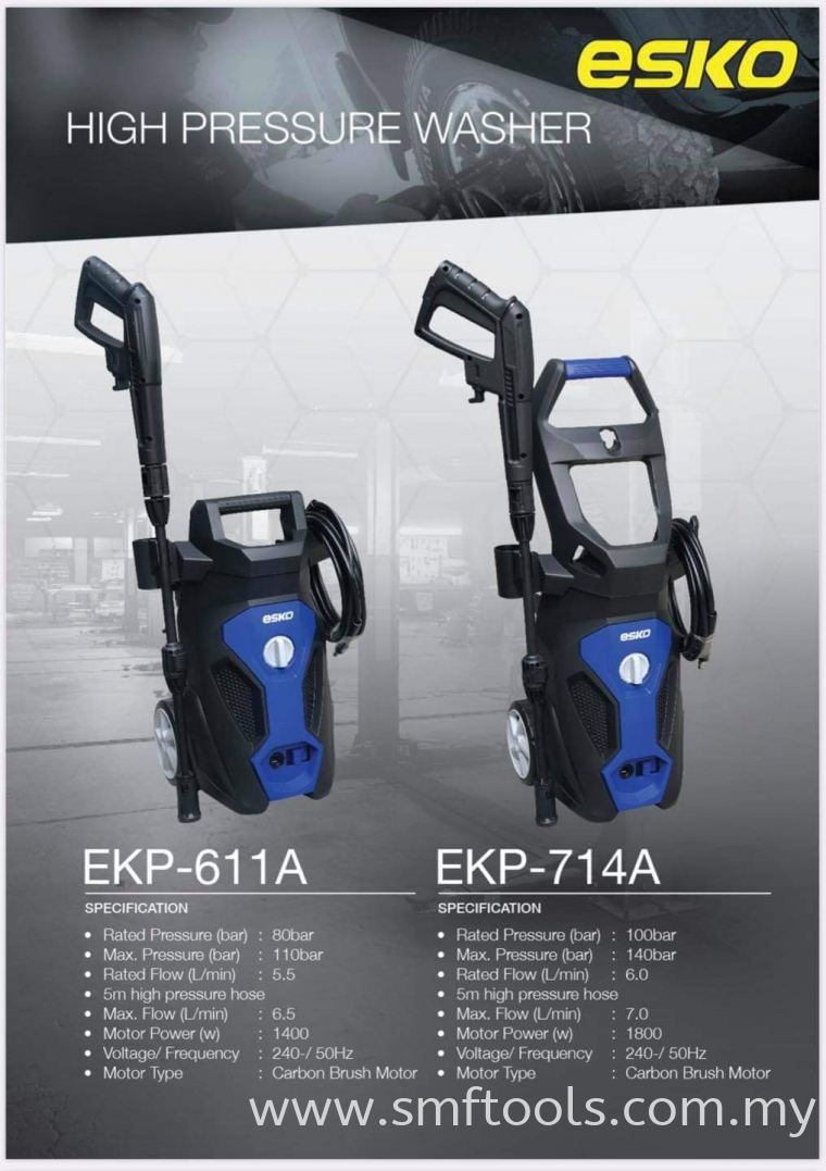 ESKO EKP-611A / EKP-714A CARBON MOTOR PRESSURE WASHER JET CARBON BRUSH MOTOR HIGH PRESSURE WASHER