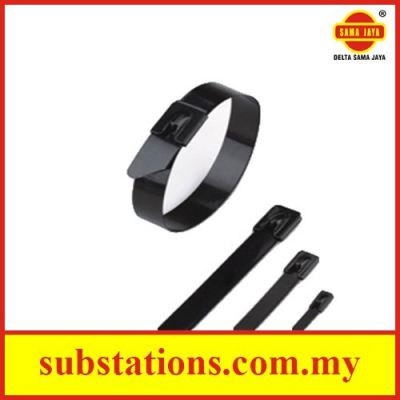 Fully Coated Stainless Steel Cable Ties - Ball Lock Type