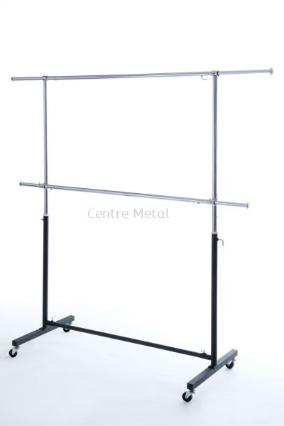 Double Sided Round Bar T-Shirt Stand