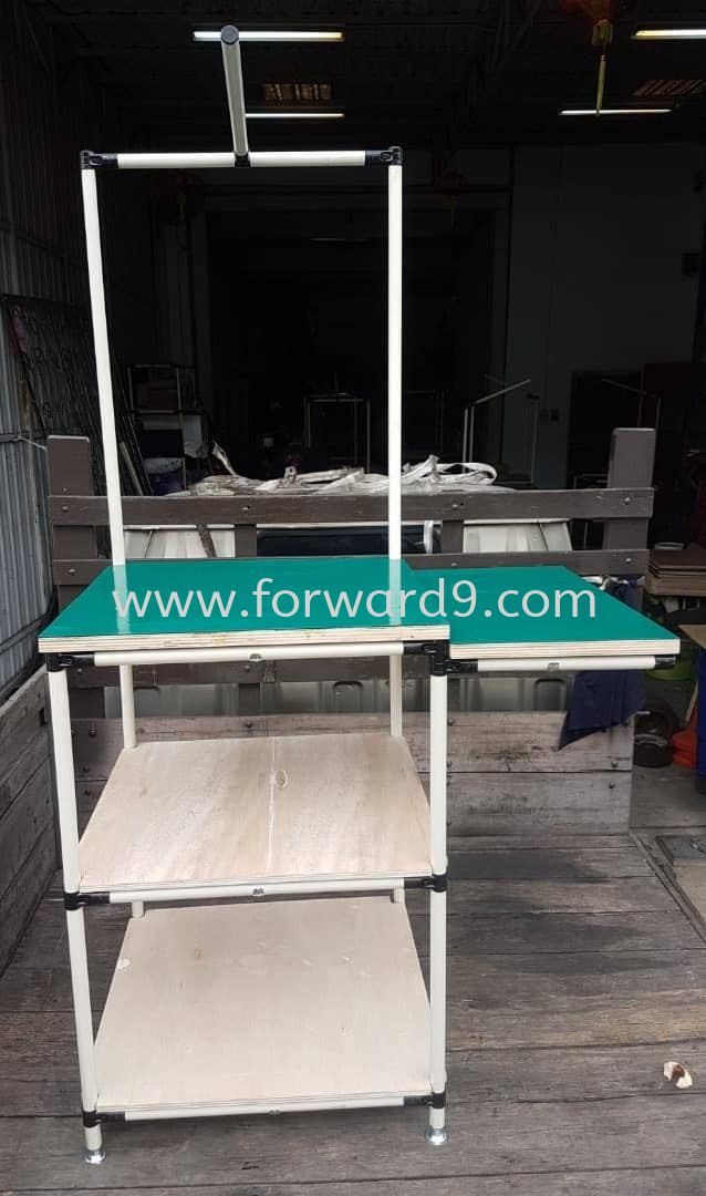 Pipe & Joint Table c/w Plywood and ESD Rubber Mat  Finished Products Pipe & Joint System Racking System