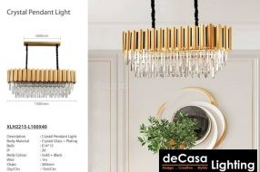CRYSTAL CHANDELIER - GOLD