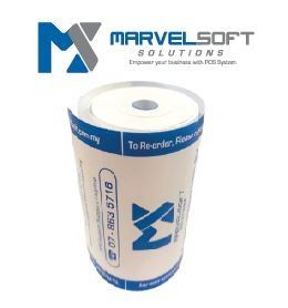 Receipt Paper Roll(thermal) coreless -Logo marvelsoft