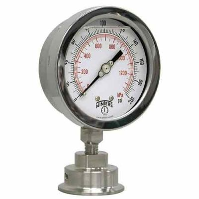 WINTERS PSI INDUSTRIAL SANITARY GAUGE ASSEMBLY