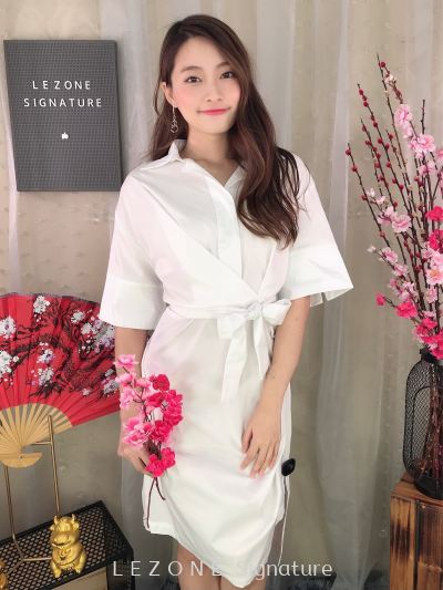 MF2019W03 Button Down Sleeved Dress