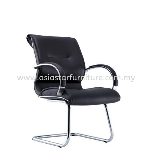 TORIO 1 VISITOR LEATHER CHAIR C/W CHROME CANTILEVER BASE