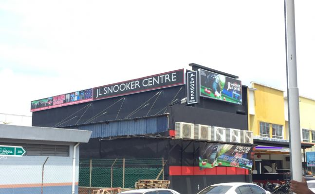 JL Snooker Centre Lightboard