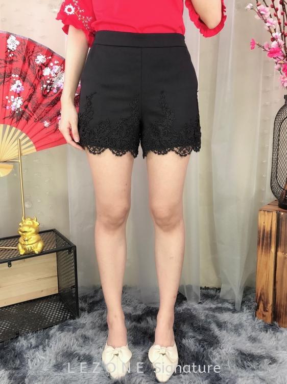 81961 Plus Size Laced Details Short Pant