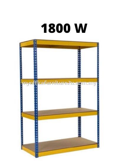 Light Duty Boltless Rack 4 Shelves (1800W x 600D x 1800H mm)