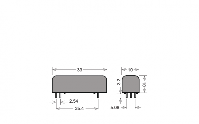 STANDEX BE24-3A52-M Reed Relays & Optocouplers