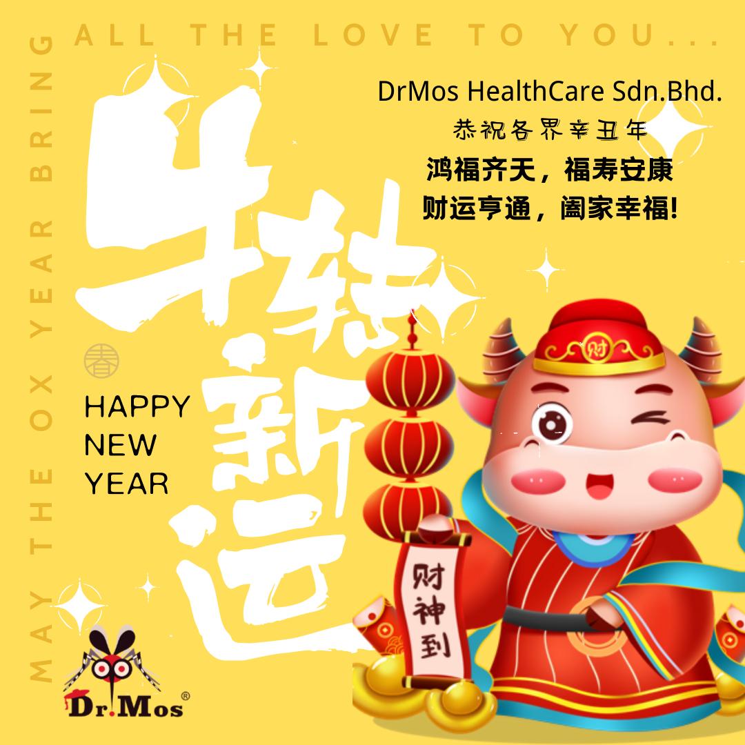 HAPPY CHINESE NEW YEAR !!新年快乐,牛年行大运!