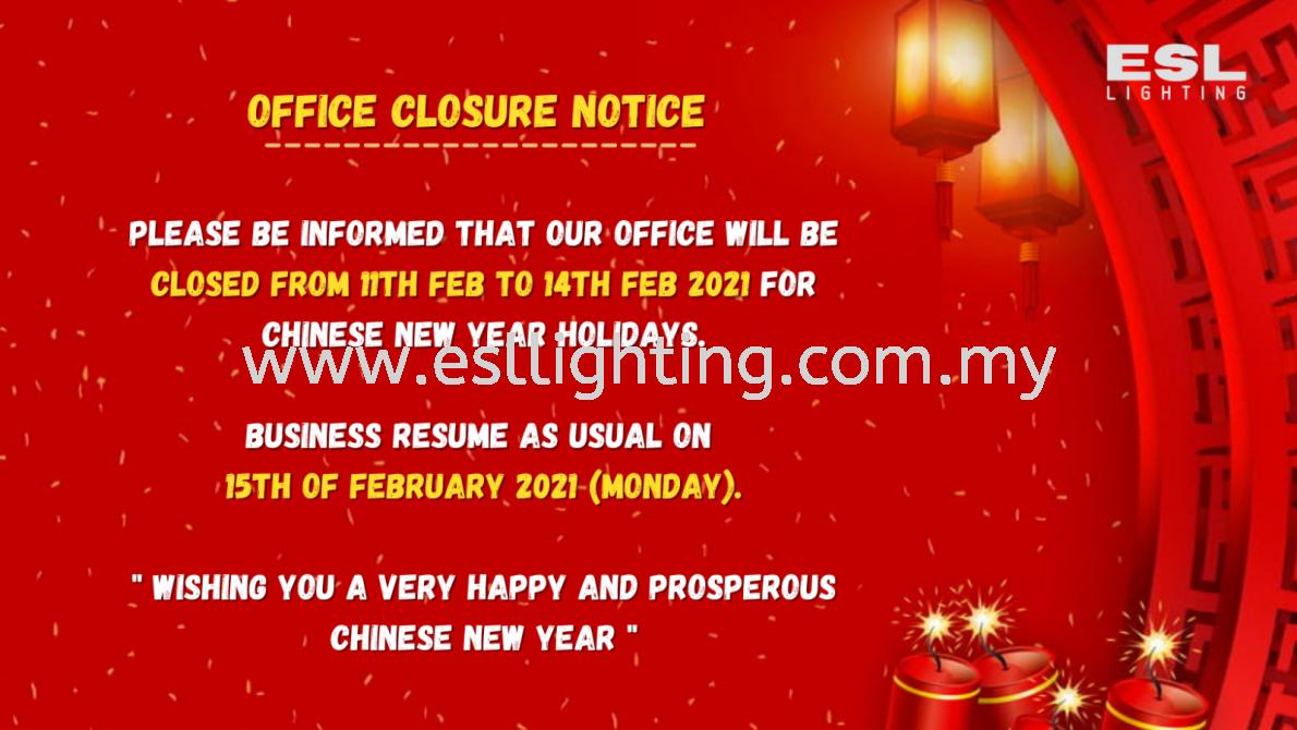 OFFICE CLOSURE NOTICE