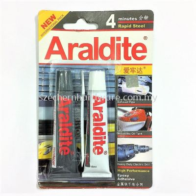 15ML X 2 ARALDITE 4 MIN RAPID STEEL