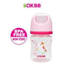 B-117 OKBB 4OZ WIDE NECK FEEDING BOTTLE UNICORN