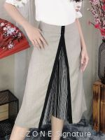769114 Front Pleated Details 3/4 Culotte