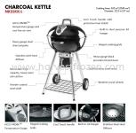 Napoleon NK22CK-L Charcoal Kettle BBQ Grill
