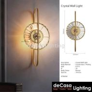 Contemporary Wall Light - Gold