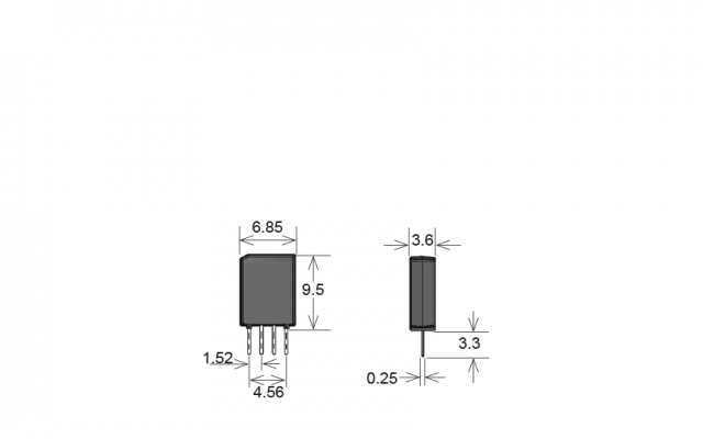 Standex UMS05-1A80-75L UMS Series Reed Relay