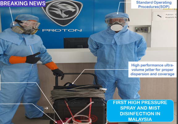 Proton ShowRoom Prevention Disinfection Covid-19 in Serdang