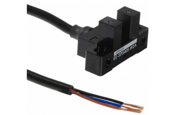 OMRON EE-SPX-W Photomicrosensor with built-in amplifier and attached cable reduces external light in