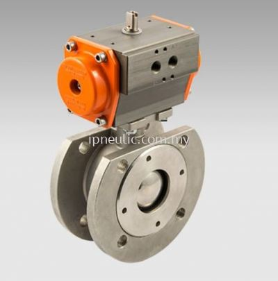 2-WAYS WAFER ACTUATED BALL VALVES SERIES RV-FLUID DOUBLE-ACTING