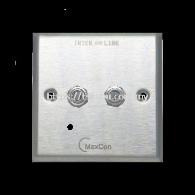 03168420  DUAL 6.3mm MONO FEMALE WALL PANEL
