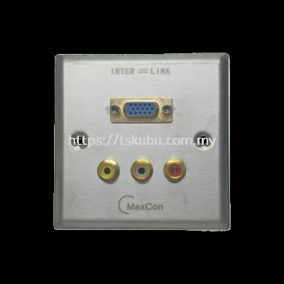 03688900  VGA (F) + 3RCA WALL PANEL