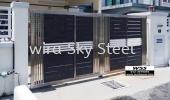 Aluminium Trackless Gate  ALUMINIUM GATE
