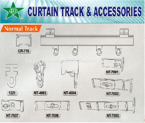 CURTAIN TRACK & ACCESSORIES NORMAL TRACK (WS)