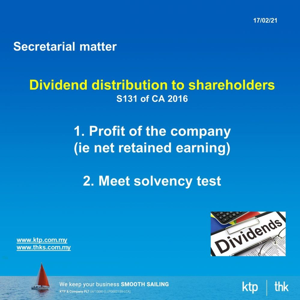 Ask Secretarial : The basic requirement on dividend distribution