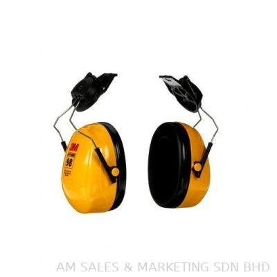3M H9P3E Helmet Attached Earmuff, Yellow