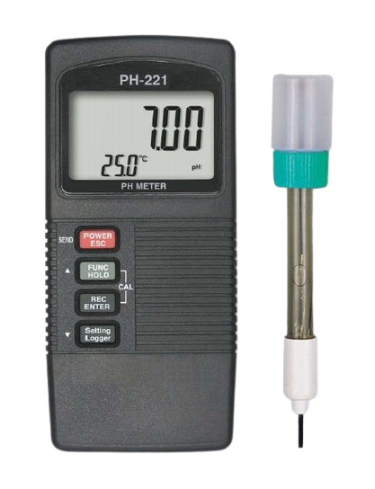 LUTRON PH-221 PH Meter, ATC, two displays