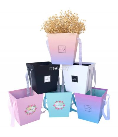 Bouquet Plant Box Handle Box Flower Surprise Delivery Box