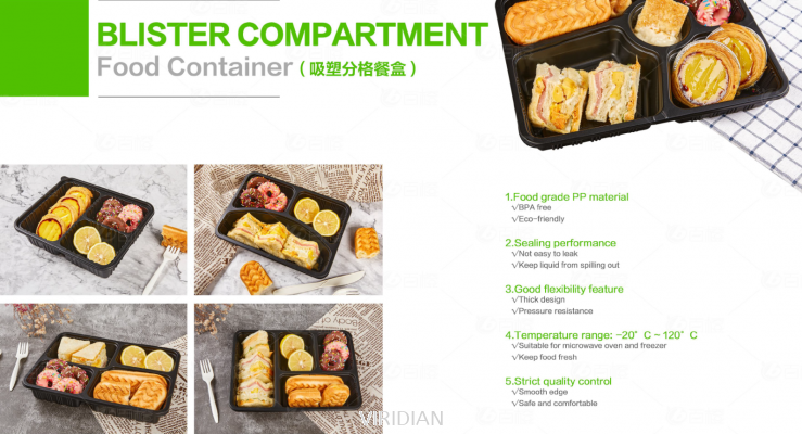 Blister Compartment Food Container