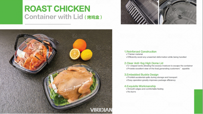 Roast Chicken Container With Lid